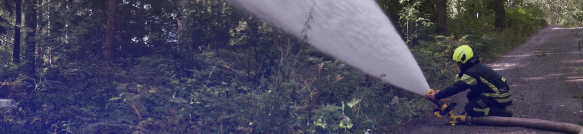 kuusiston vpk pumpputesti metsässä